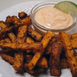 Spicy Sweet Potato Fries With Sriracha Dipping Sauce recipe