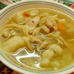 Chicken, Vegetables, and Pasta Soup recipe