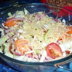 Salad With Parmesan Cheese (Salata Ma Jibna) recipe
