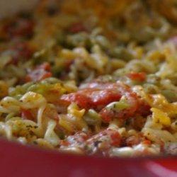 Three Cheese Macaroni and Tomatoes recipe
