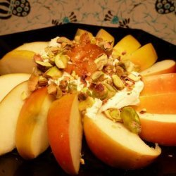 Apple Slices With Goat Cheese and Pistachios recipe
