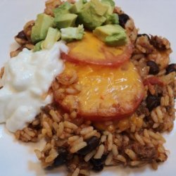 Mexican Rice Casserole With Ground Beef recipe