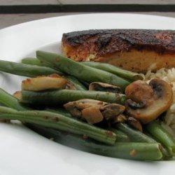 Green Beans With Sauteed Shallots, Mushrooms and Garlic recipe