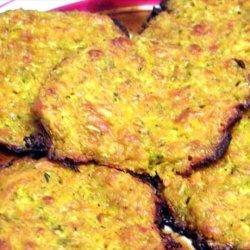 Cheesy  Baked Zucchini, Sweet Potato Patties recipe