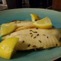 Braised Halibut With Tarragon and Chives recipe