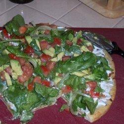 Drake Hogestyn's Salad Pizza recipe