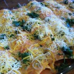 Johnny Jalapeno's Chicken Enchiladas With Cilantro recipe