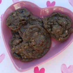 Chocolate Fudge Cookies With Toffee & Dried Cherries recipe