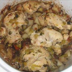 Slow Cooker Potato Leek Chicken recipe