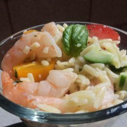 Shrimp and Orzo Salad With Citrus Vinegrette recipe