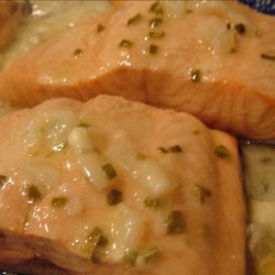 Salmon With Butter Sauce recipe