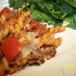 Pasta With Ground Beef and Tomato recipe