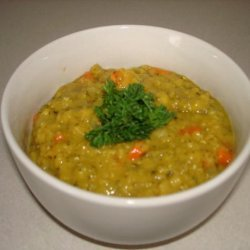 Curried Red Lentil Soup With Lemon recipe