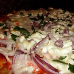 Smoked Salmon, Tomato and Feta Pizza recipe