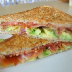 Spicy Grilled Bacon and Tomato Sandwich With Avocado recipe