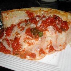 Deep Dish Spinach and Mozzarella Pizza recipe