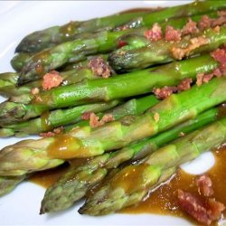 Asparagus With Bacon, Red Onion, and Balsamic Vinaigrette recipe
