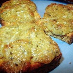 Basil Pesto Bread Rounds recipe