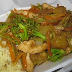 Ginger Chicken and Broccoli recipe