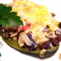 Mexican Rice Stuffed Poblano Peppers recipe