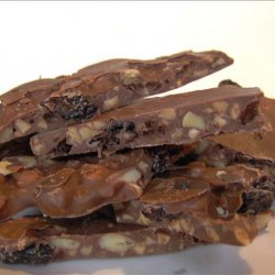 Chocolate Bark Filled With Pine Nuts and Dried Cherries recipe