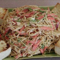 Tofu and Noodle Salad With Peanut Sauce recipe