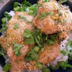 Spicy Thai Curry Chicken Encrusted With Peanuts recipe