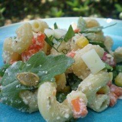 Rainbow of Colours Pasta Salad recipe