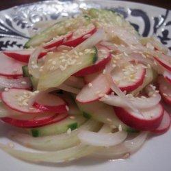 Japanese Style Cucumber and Radish Salad recipe