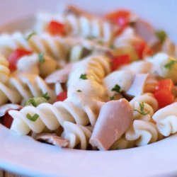 Creamy Pasta Salad With Tuna and Vegetables (Low Fat) recipe