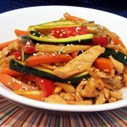 Chicken Sesame Noodle Stir Fry recipe