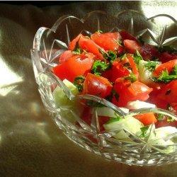 tomato, cucumber, & onion salad recipe