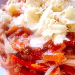 Chicken Spaghetti Bolognaise recipe