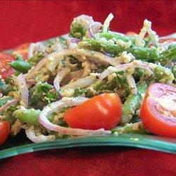 Green Bean and Walnut Salad (Mtsvani Lobios Pkhali) recipe