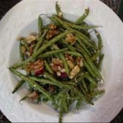 Roasted Green Beans With Greek Dressing recipe