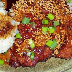Pork With Soy Sauce and Sesame Glaze recipe
