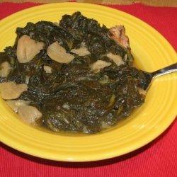 Traditional Southern Greens (Mustard, Turnip or Collards) recipe