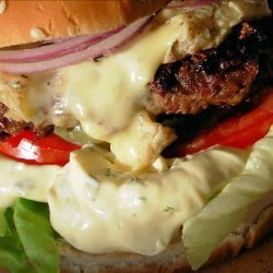 Bastille Burger - Bearnaise, Blue Cheese and Red Onion Burgers recipe