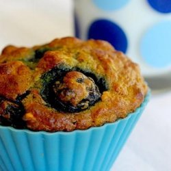 Blueberry Oatmeal Muffins With Walnuts recipe