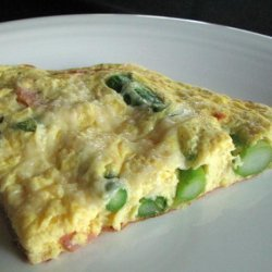 Frittata With Asparagus, Canadian Bacon and Parmesan recipe