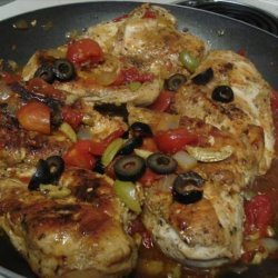 Chicken Breast With Tomato Olive Sauce recipe