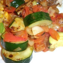 Zucchini With Onion and Tomato recipe