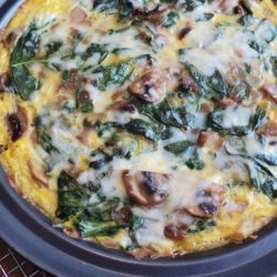 Mushroom and Spinach Quiche With Potato Crust recipe