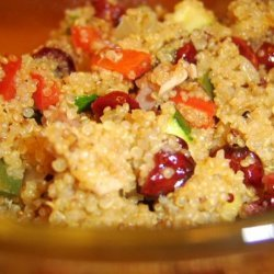 Quinoa With Ham and Cranberries recipe