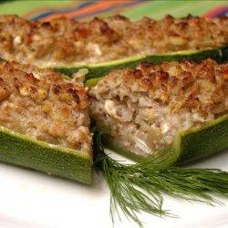 Stuffed Zucchini With Walnuts and Feta recipe