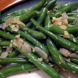 Haricots Verts With Browned Garlic recipe