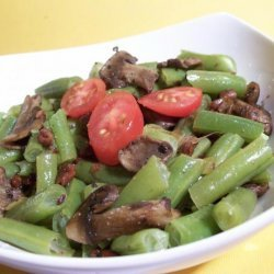 Haricot Verts (Green Beans) , Wild Mushrooms With Hazelnuts recipe
