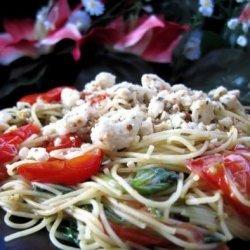 Popeye Pasta With Feta Cheese recipe