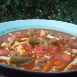 Zesty Beef and Vegetable Soup for the Crock Pot recipe