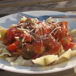 Chicken Cacciatore over Pasta recipe